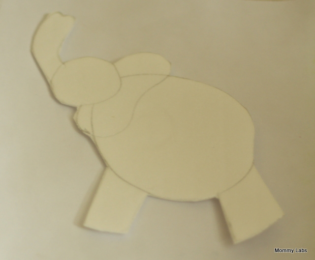 This elephant stencil from styrofoam plate paved the way for some