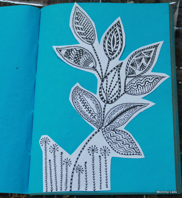 zentangle leaves