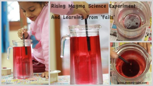 earth magma science experiment for kids