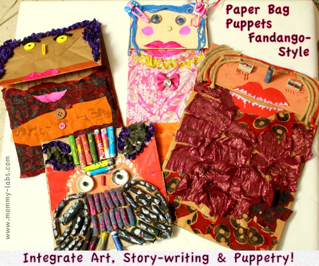 paper bag puppets recycled household items