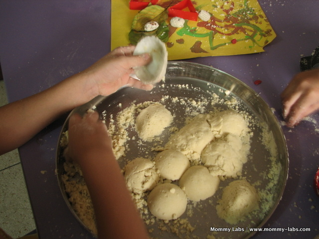 cloud dough pretend cook play