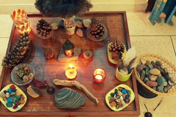 Nature Table for Spirituality and Meditation