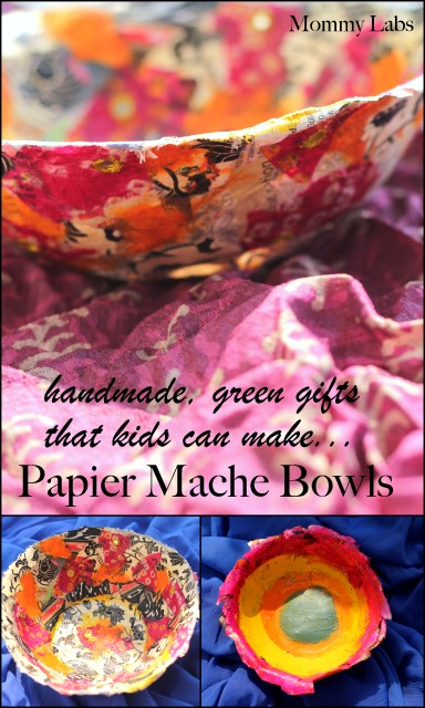 papier mache bowls handmade green gifts that kids can make Mommy Labs