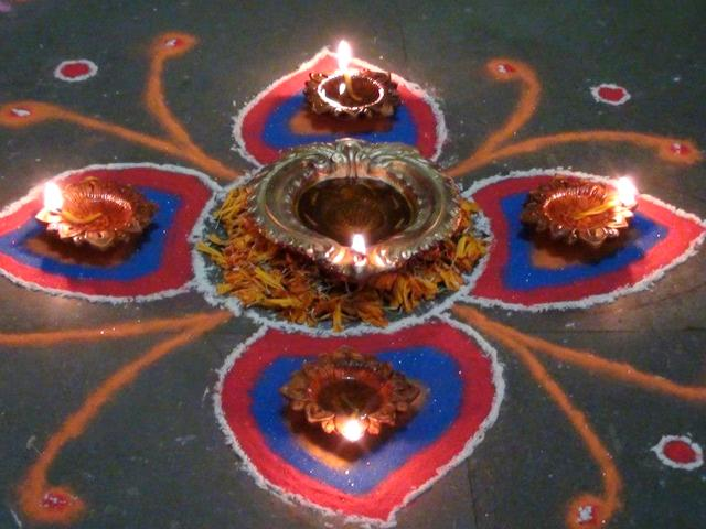 rangoli or alpana for Diwali