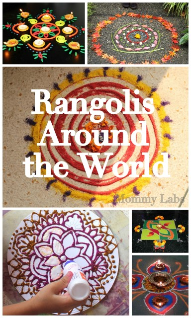 Diwali rangoli art ideas with kids