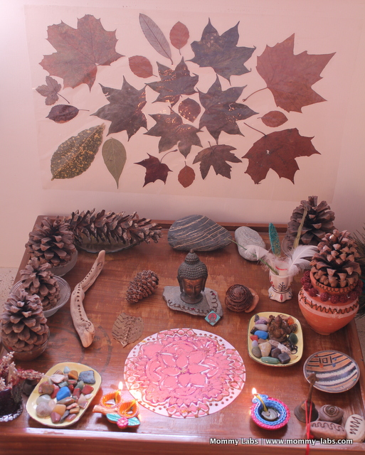 Nature Table for Diwali