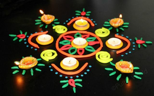 play doh dough rangoli