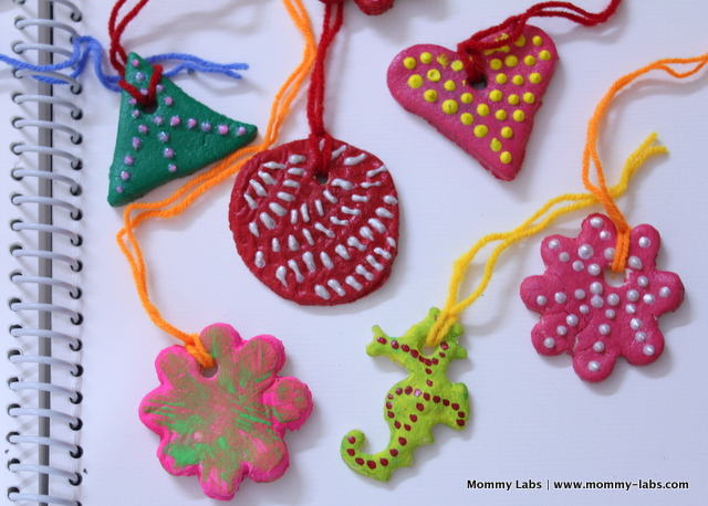 Christmas art craft decoration for kids salt dough ornaments