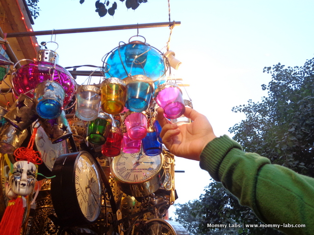 colourful lanterns, Janpath