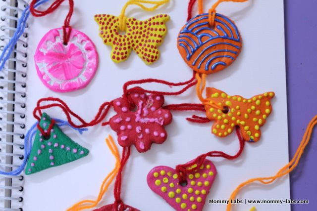 pretty salt dough ornaments