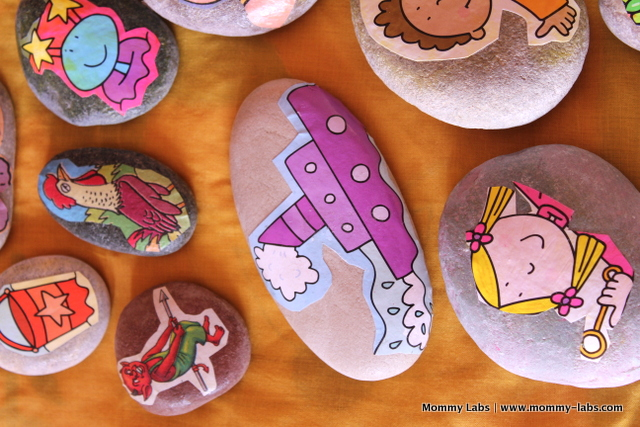 story stones props for storytelling with children