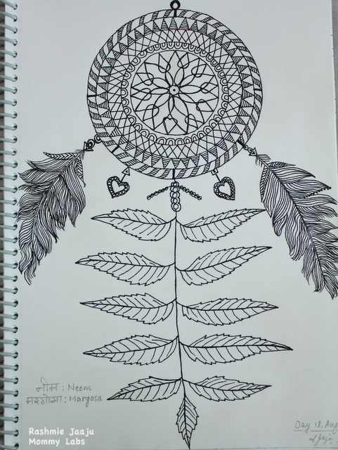 Dreamcatcher Zentangle Art