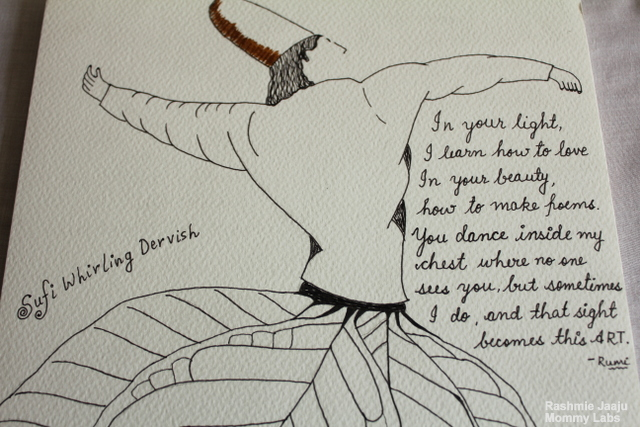 Rumi Poetry Art