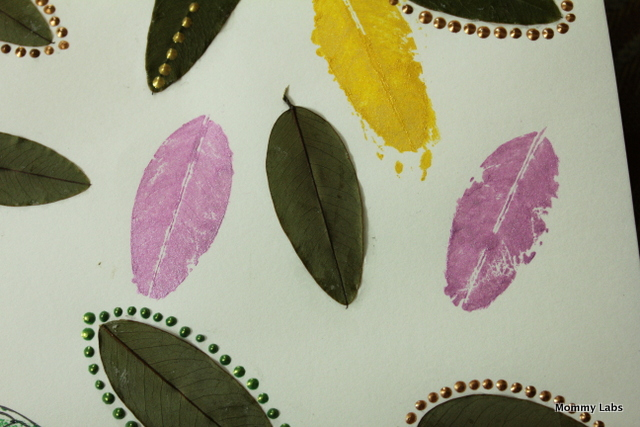 leaf art and printing