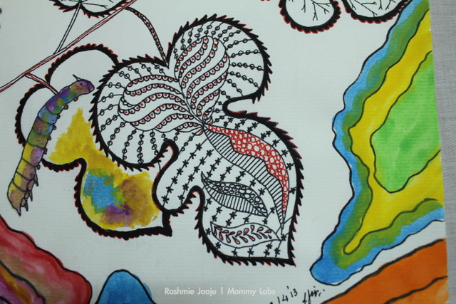 leaf art nature zentangle mulberry leaves india