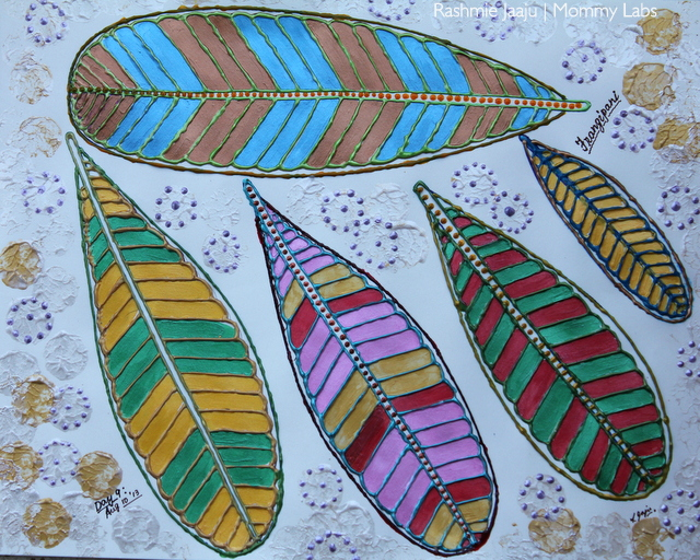 leaf art stained glass effect_nature journaling