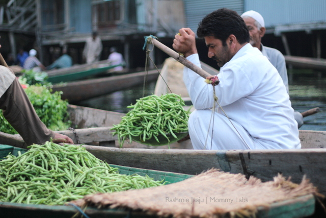 vegetable market on shikaras Dal lake Kashmir