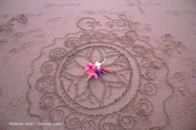mandala on the beach