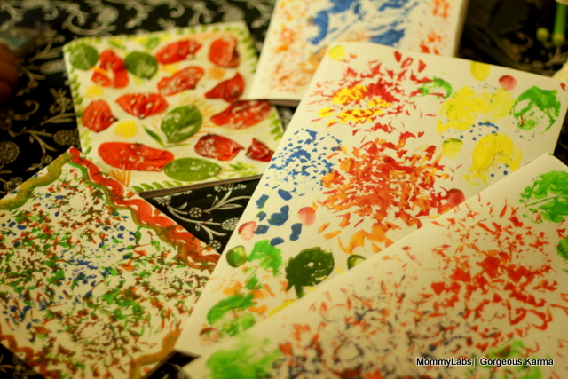 Making Holi Cards With Leaf And Petal Printing And Decoupage