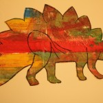 Tissue Paper Collage Dinosaur – Eric Carle Style