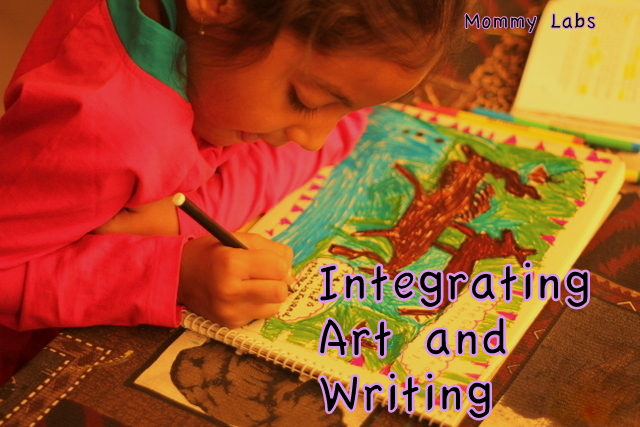 Integrating art and writing for kids learning homeschool india