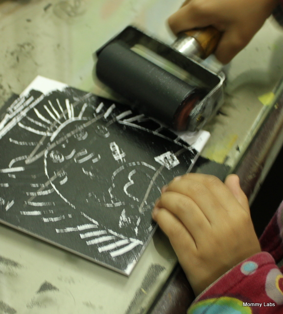 Letter Press Printing with Kids at Home!