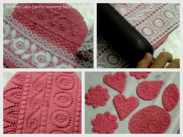 Swoon worthy lacy pink valentine play dough ornaments we solutioingenieria Choice Image
