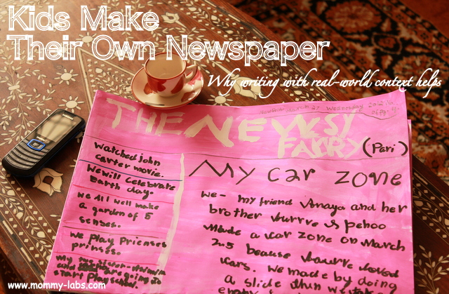 kids newspaper creative writing ideas