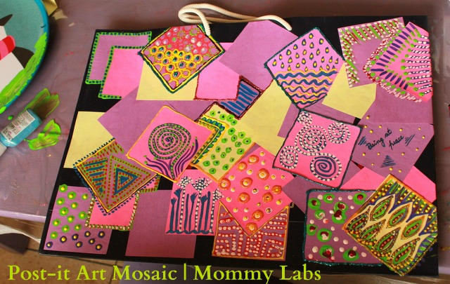 creative paper craft ideas math artful on post it notes 4186