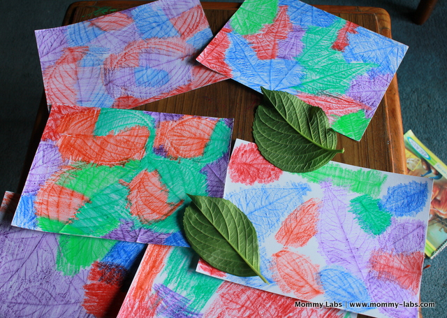 leaf rubbings art ideas for kids