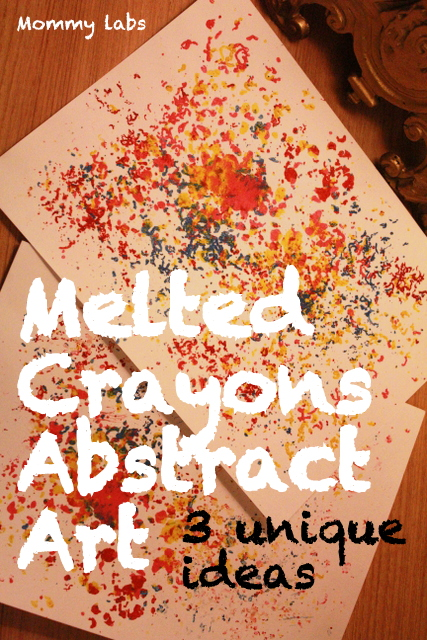 melted crayons abstract open ended art