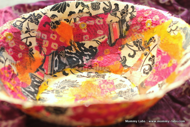 paper papier mache bowl Diwali holiday gifts