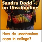 Sandra Dodd Interview (Part II): How Do Unschoolers Cope with College and 21 Questions on Learning without School and Living Joyfully