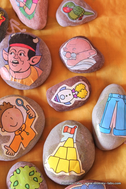 ideas for storytelling with kids story stones