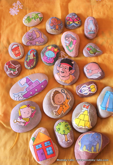 story stones for playful learning ideas Mommy Labs