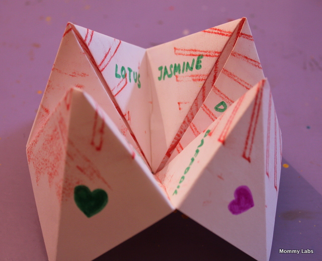 Origami Fortune Teller Craft  Enchanted Learning Software