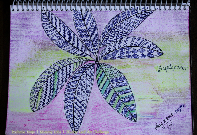 30-day leaf art therapy for spiritual pregnancy