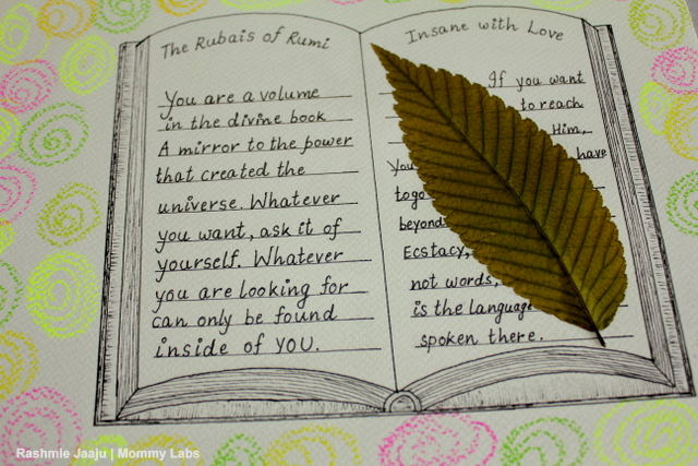 Rumi art leaves journaling nature