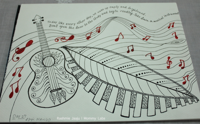 Zentangle Art Rumi Music Poetry