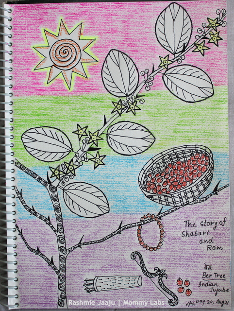 Leaf Art Zentangle Indian Jujube Ber Shabari story