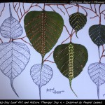 Day 4 of the 30-Day Leaf Art And Nature Therapy: Inspired by Peepal Leaves