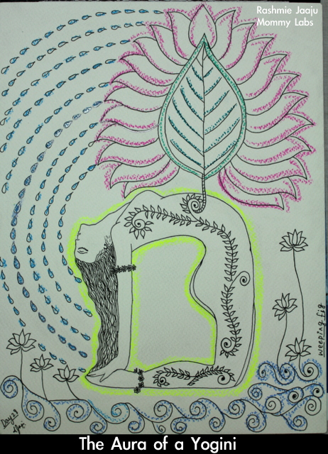 yoga yogini aura art leaf journaling nature spiritual