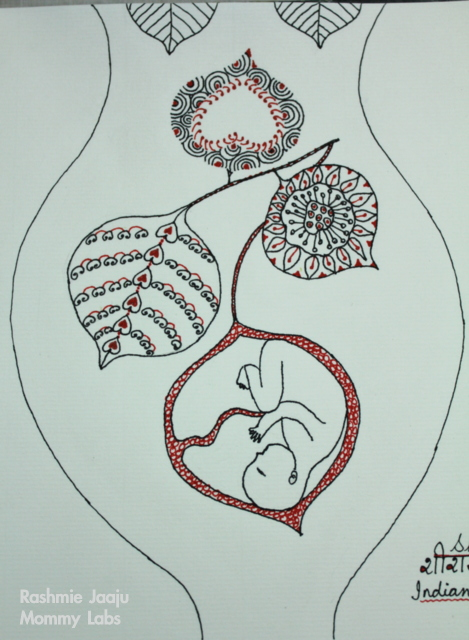 zentangle art leaves