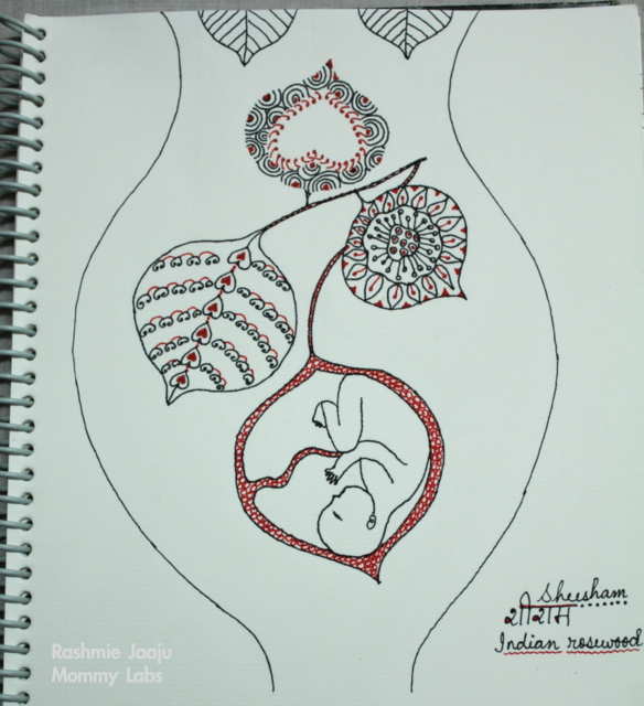zentangle leaves womb