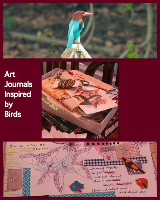art journaling with children inspired by birds