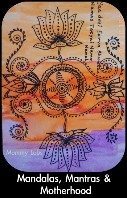 mandala mantra art motherhood